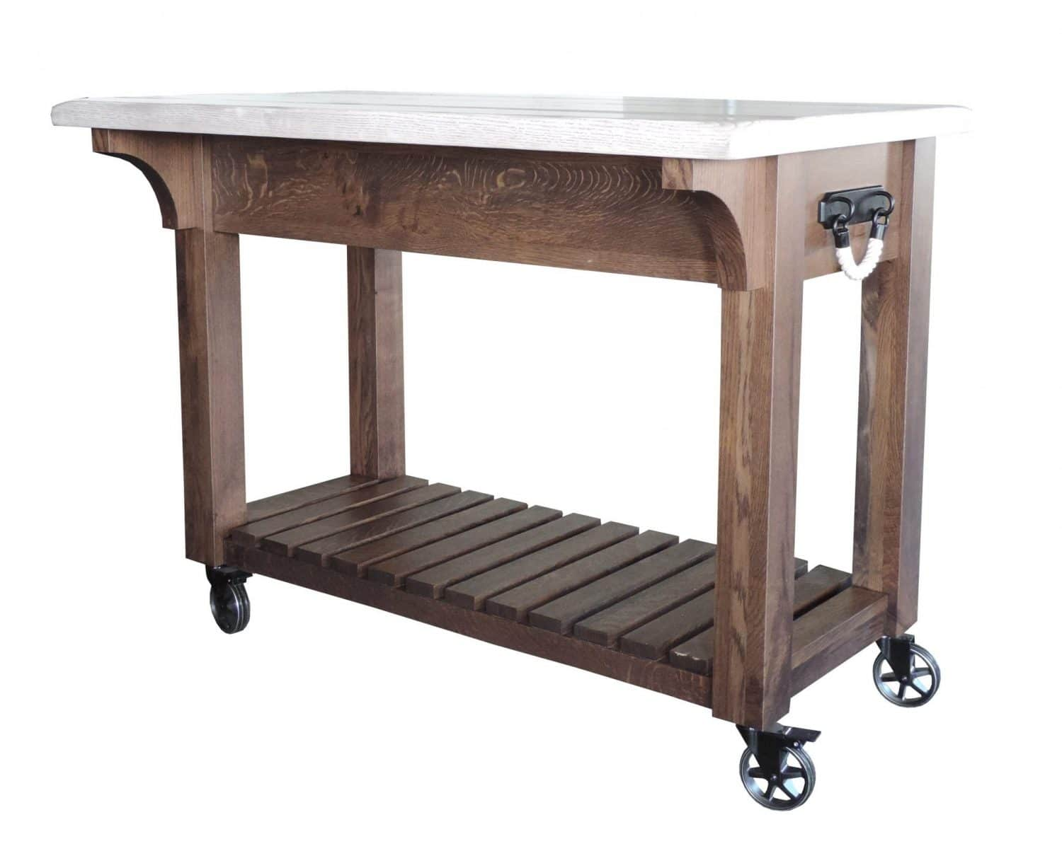 Timberline island in distressed oak the amish furniture company