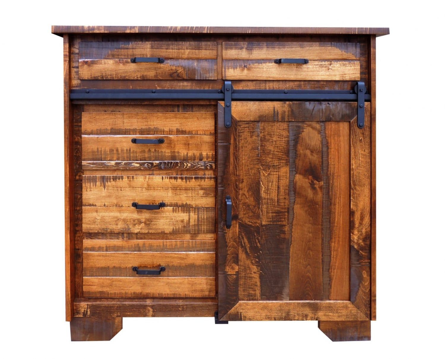 Timberline Barn Door Dresser In Rough Sawn Maple The Amish Furniture Company