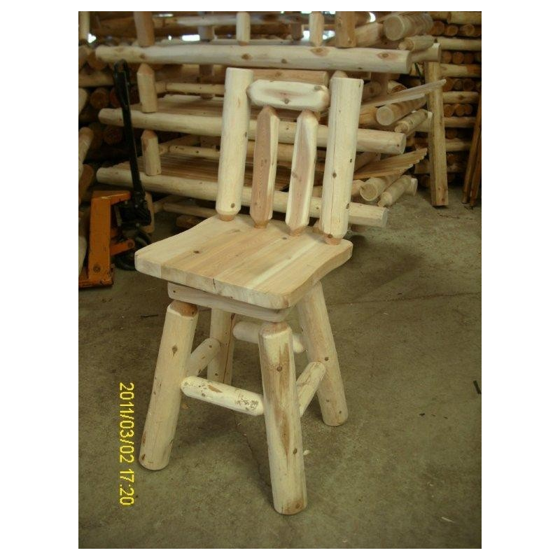 White Cedar Log Rustic 30″ Bar Stool