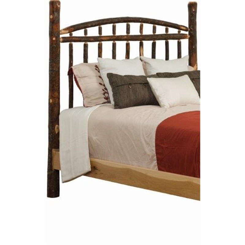 Rustic Hickory Log Dakota Style Headboard