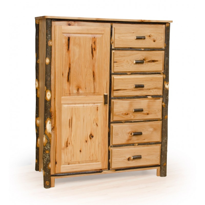 Rustic Hickory Wardrobe/Armoire With Drawers