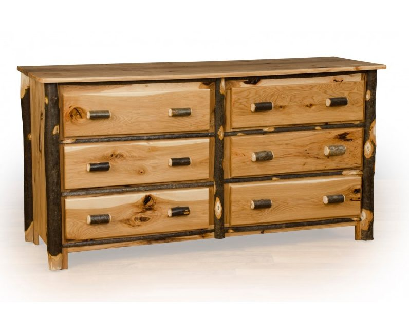 Rustic Hickory Dresser – Available In 6 Or 7 Drawer