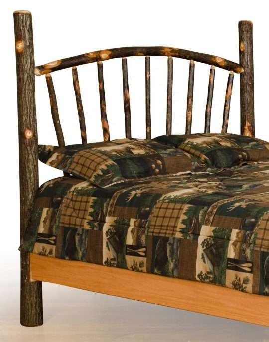 Rustic Hickory Sunburst Headboard Only