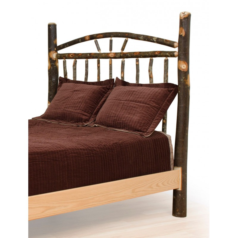 Rustic Hickory Wagon Wheel Headboard Only