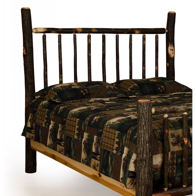 Rustic Hickory Mission Style Headboard Only