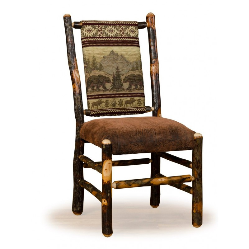 Rustic Hickory Low Back Dining Chair