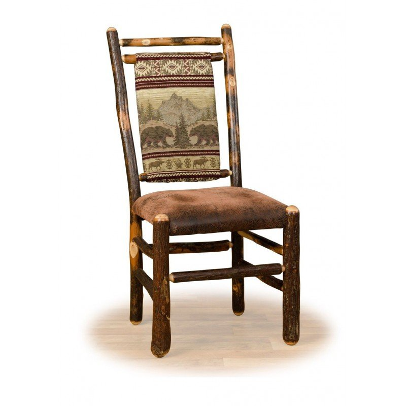 Rustic Hickory Medium Back Dining Chair