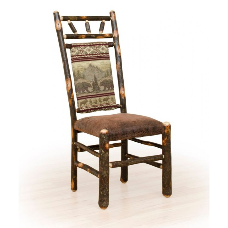 Rustic Hickory High Back Dining Chair