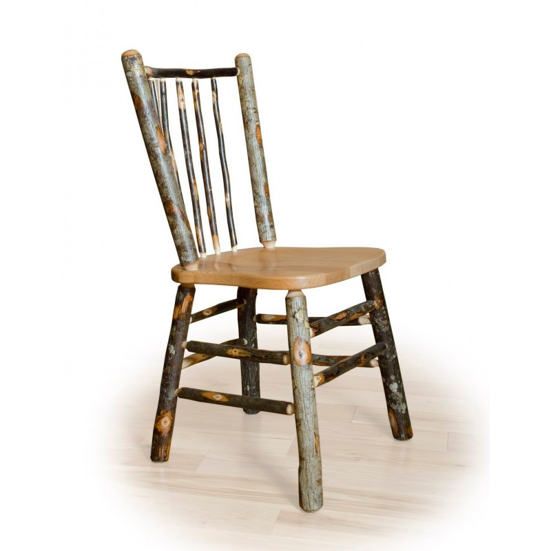 Hickory Stick Back Rustic Dining Chair