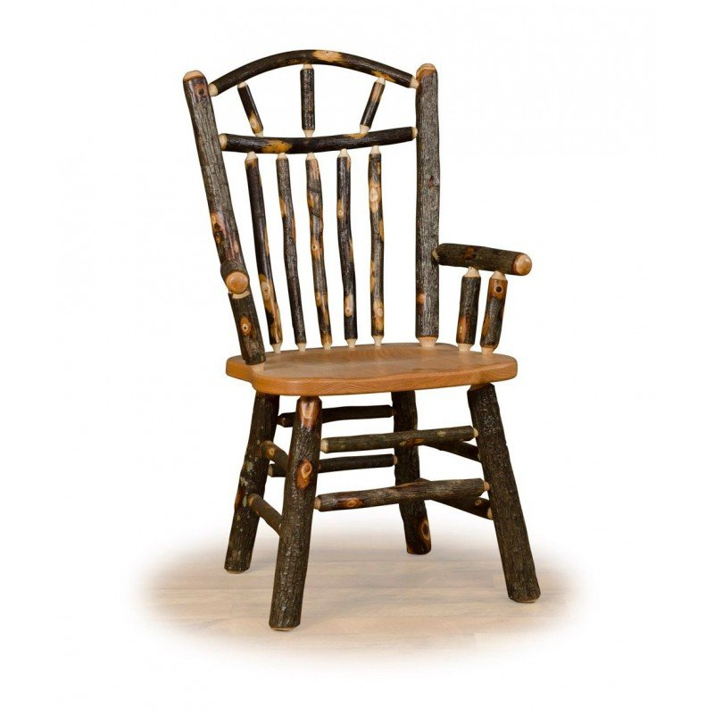Hickory Wagon Wheel Rustic Arm Chair