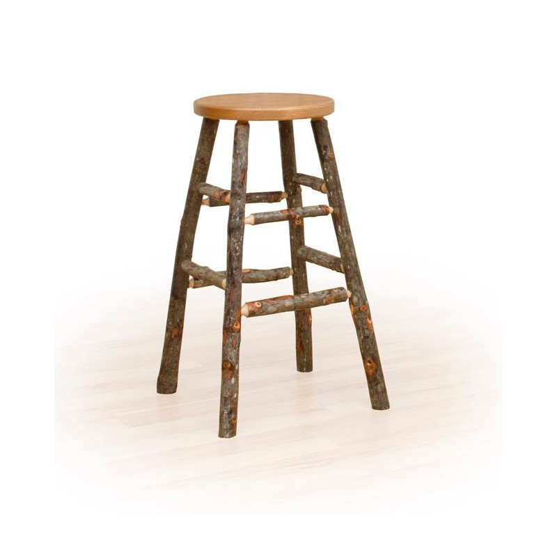 Rustic Hickory Kitchen Stool – Table, Counter, Or Bar Height