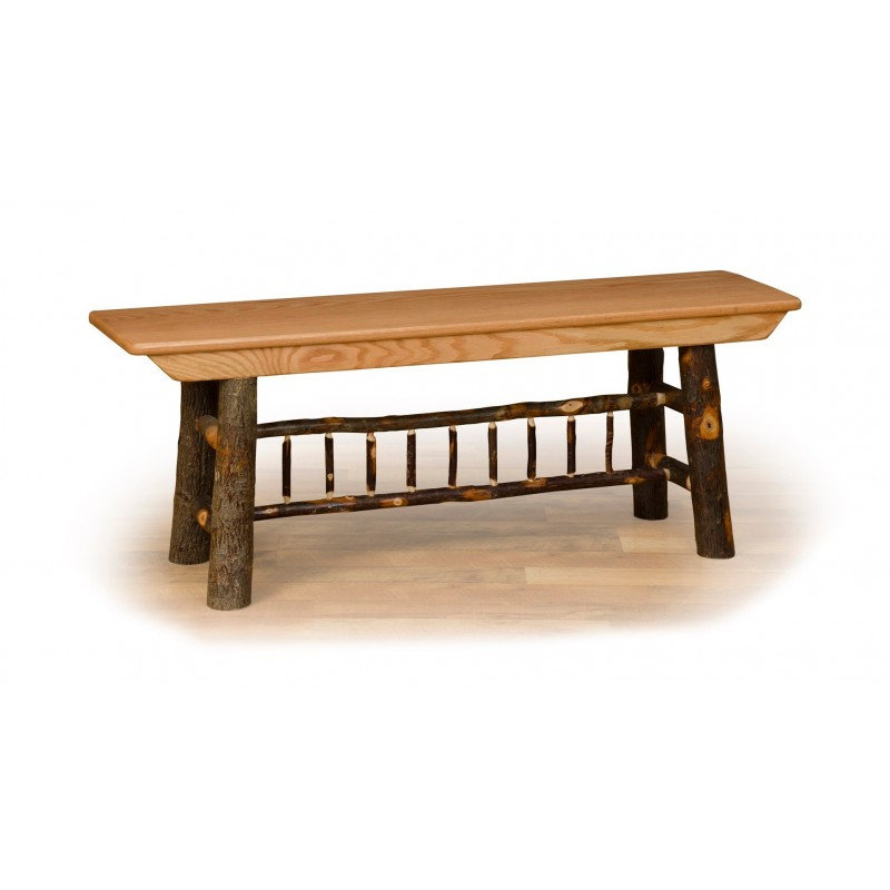 Rustic Hickory Farm Bench – 2/3/4/5 Foot