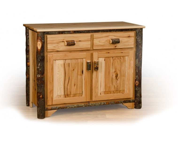 Rustic Hickory 2 Door Buffet – Hickory & Oak Or All Hickory