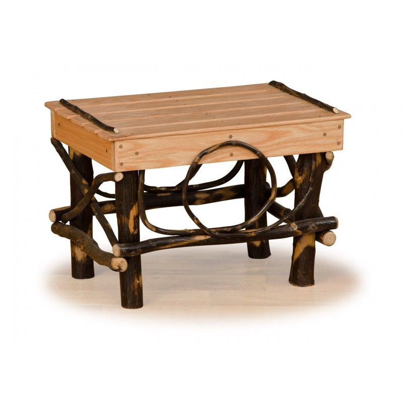 Rustic Hickory Foot Stool/Ottoman