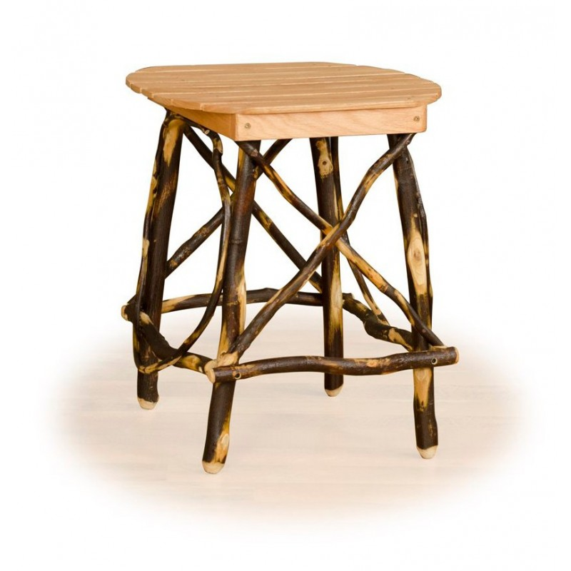 Rustic Hickory Oval End Table