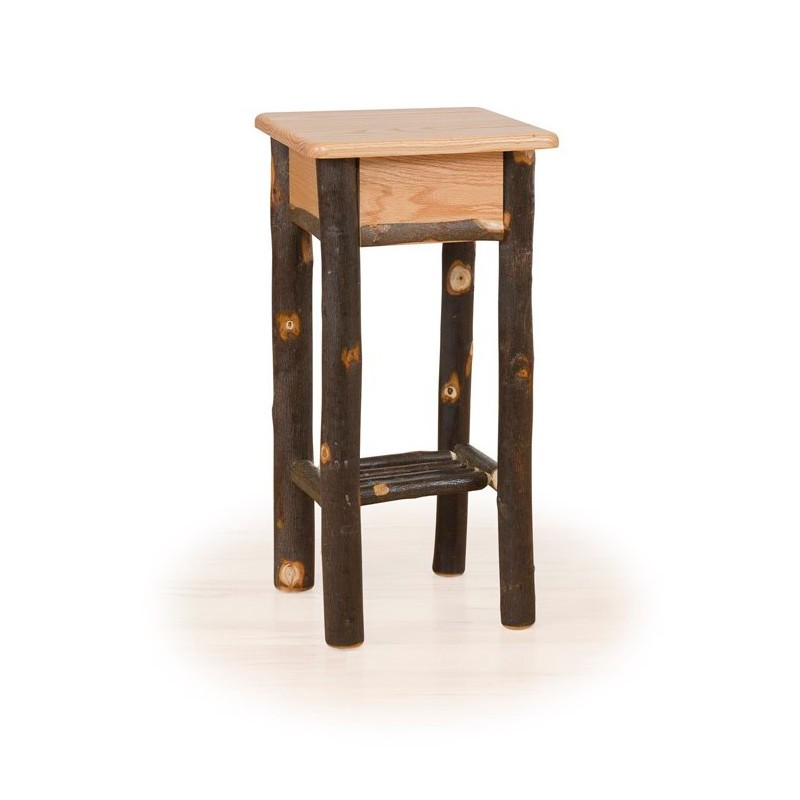 Rustic Hickory Phone Stand / Tall End Table
