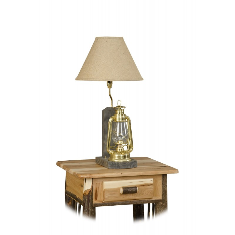 Rustic Hickory Lantern Table Lamp