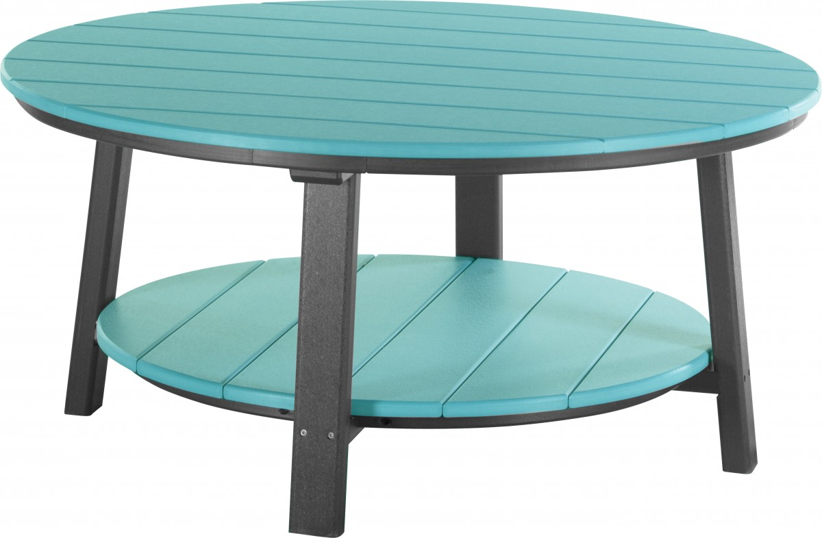 Luxcraft Poly Lumber Round Deluxe Conversation Table