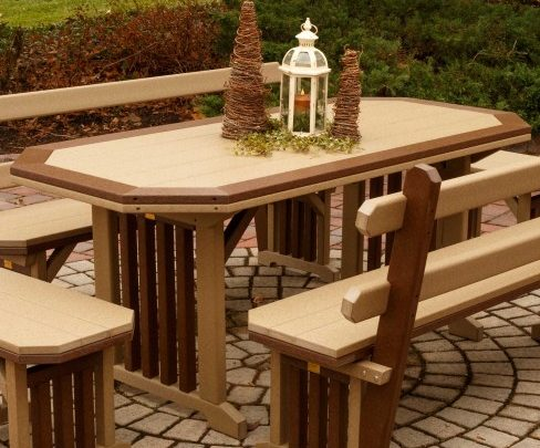 Finch Mission Dining Table With A Border-Multiple Sizes