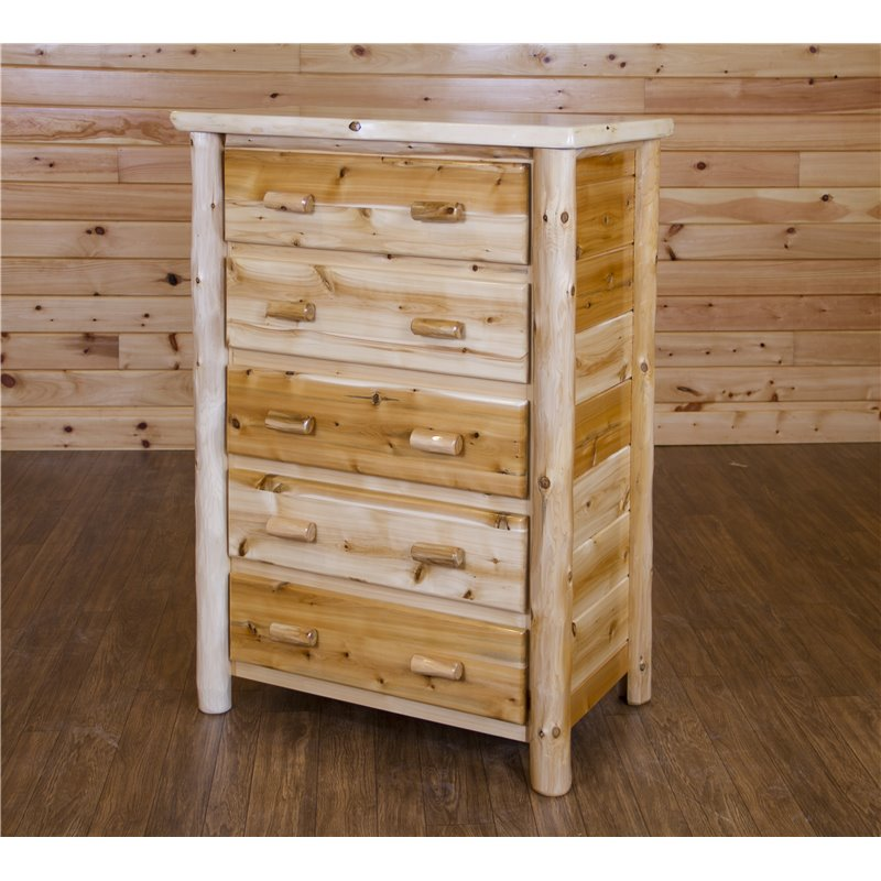 Rustic White Cedar Log Dresser/Chest