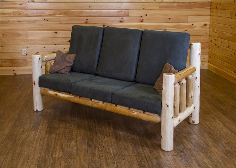 Rustic White Cedar Log Sofa Or Love Seat