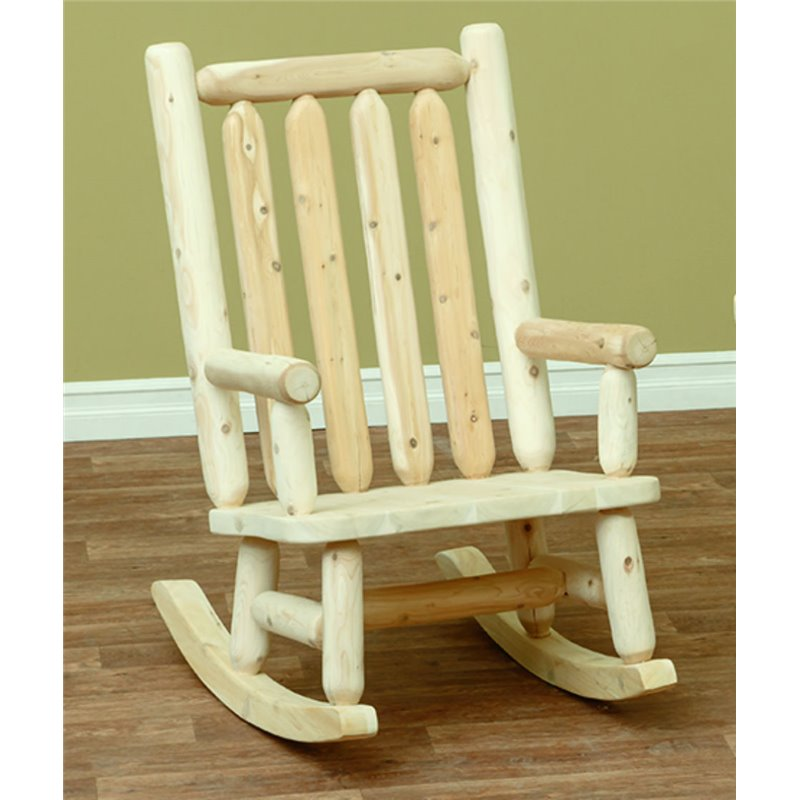 Finished White Cedar Rocking Chair