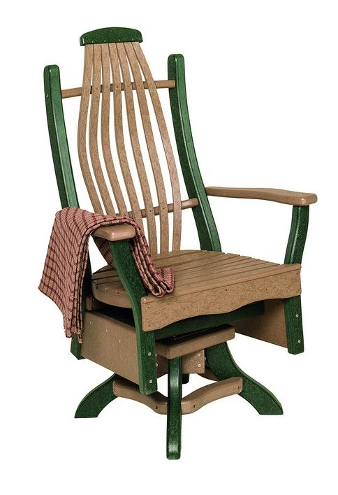 Poly Lumber Bentwood Style Swivel Arm Chair