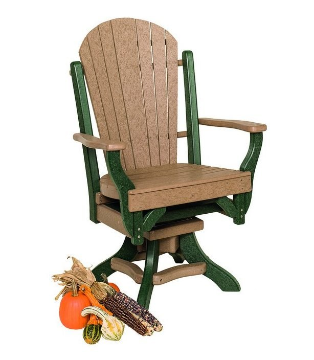 Poly Lumber Fanback Style Swivel Arm Chair