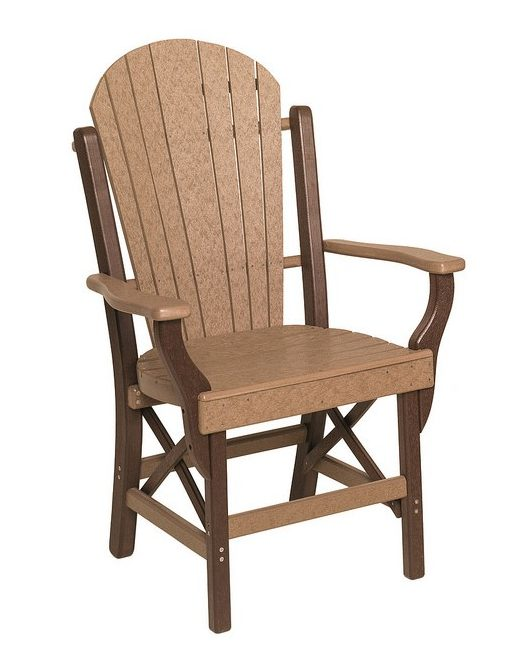Poly Lumber Fanback Style Arm Chair