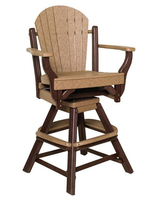 Poly Lumber Fanback Style Swivel Pub Chair