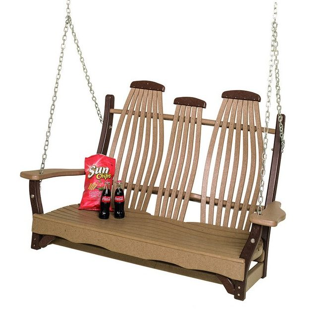 Poly Lumber Bentwood Style Swing