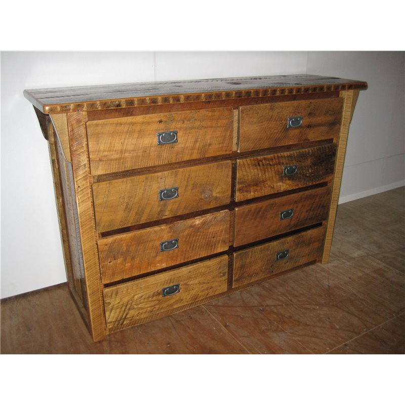 Rustic Reclaimed Barn Wood 6-Drawer Dresser