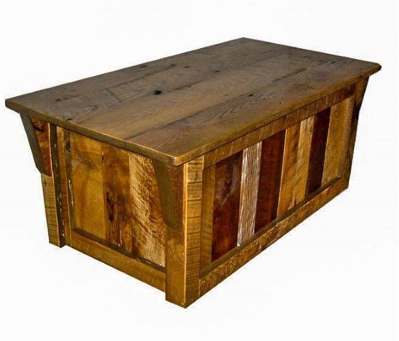 Rustic Reclaimed Barn Wood Blanket Chest