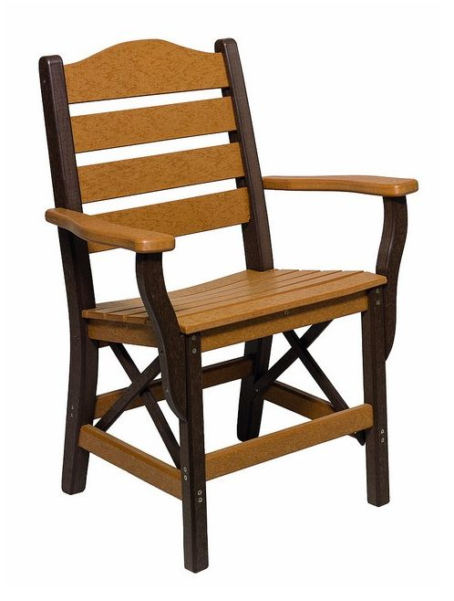 Poly Lumber Ladderback Style Arm Chair