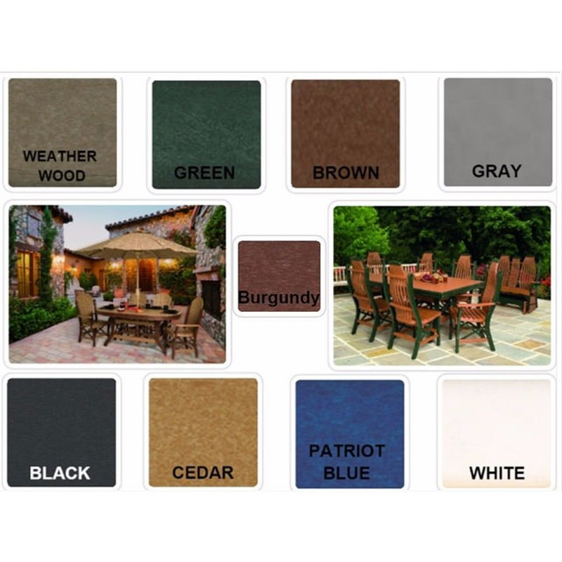 """Poly Lumber Balcony Half-Round Table 30"""" Tall - 5 Sizes - 18 Standard Colors"""