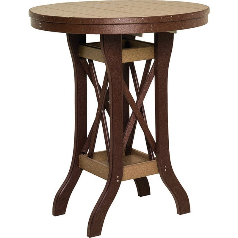 Poly Lumber Round Table Pub Height (42″ Tall) – 5 Sizes