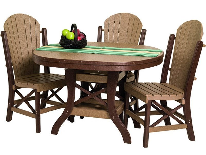 Poly Lumber Patio Set With Oval Table And Side Chairs