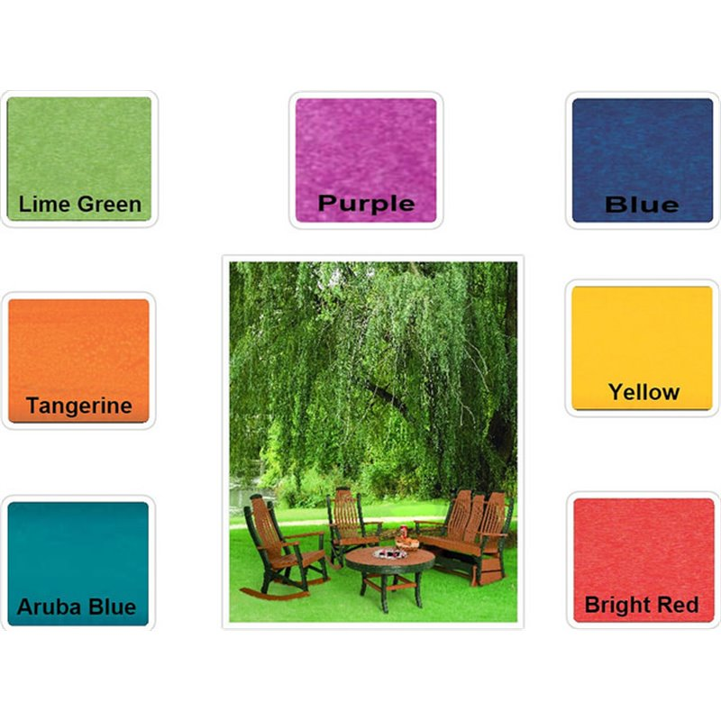 """Poly Lumber Patio Set with 60"""" Round Pub Table & 6 Fanback Swivel Arm Chairs- 7 Premium Colors"""