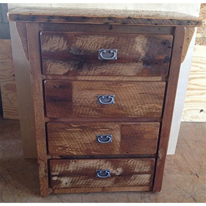 Rustic Reclaimed Barn Wood 4-Drawer Dresser/Chest