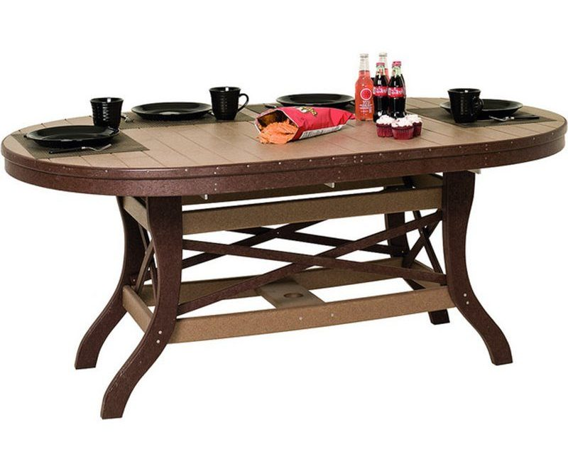 Poly Lumber Oval Table 30 Tall – 3 Sizes