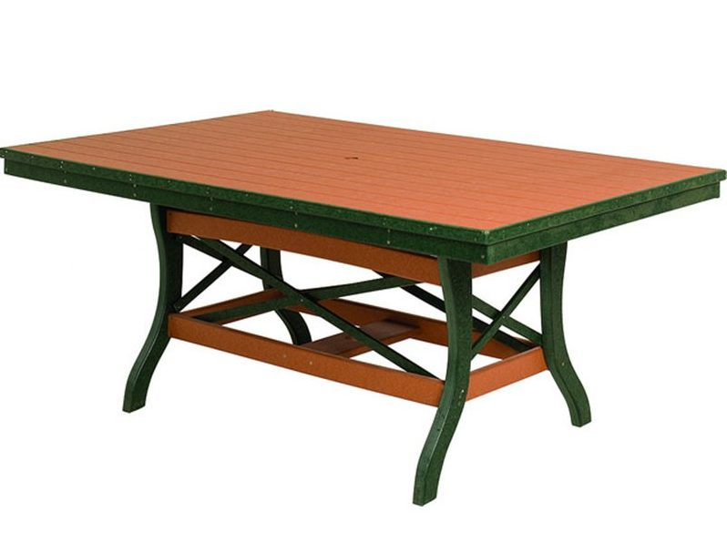 Poly Lumber Rectangle Table 30″ Tall – 3 Sizes