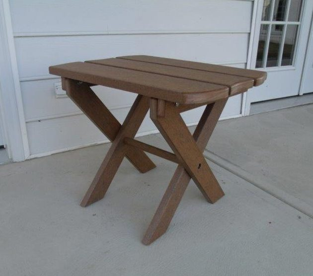 Antique Mahogany Poly Folding End Table