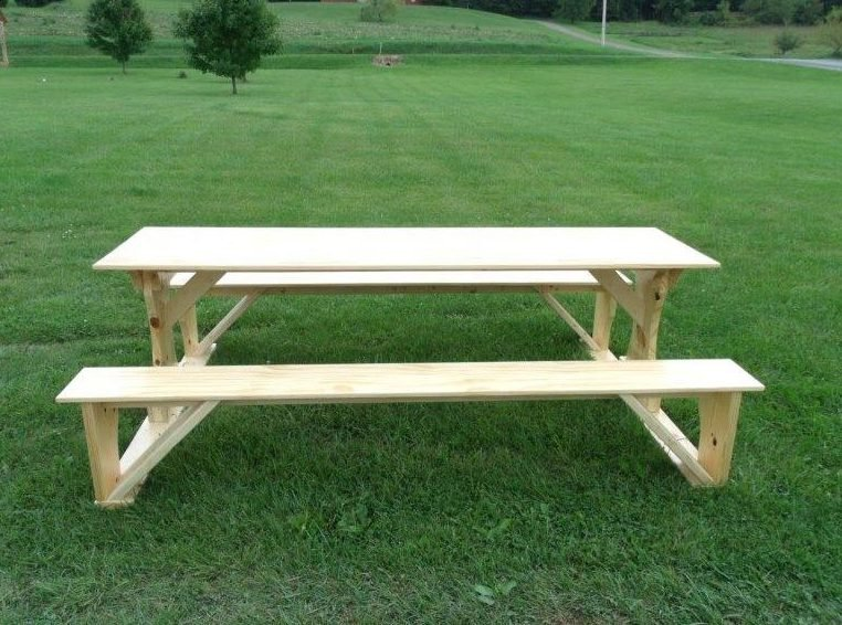 Commercial Grade Indoor/Outdoor White Cedar Pub Trestle Table