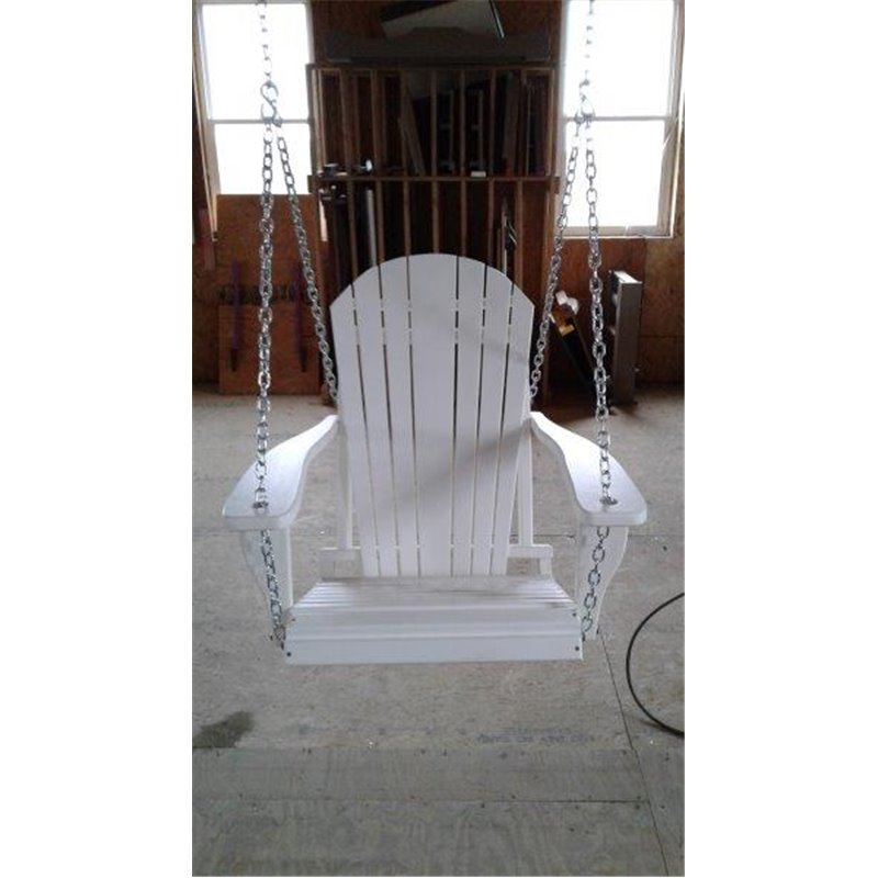 Poly Lumber Adirondack Swing Chair With Chains – Single Color