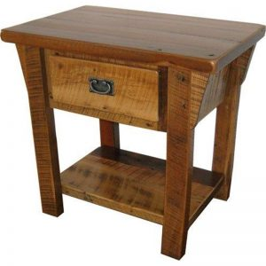 Rustic Reclaimed Barn Wood End Table
