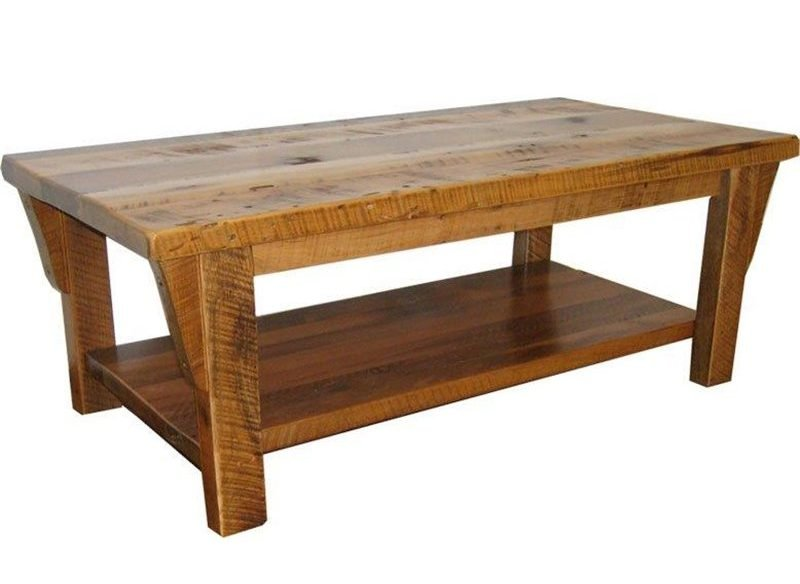 Rustic Reclaimed Barn Wood Coffee Table