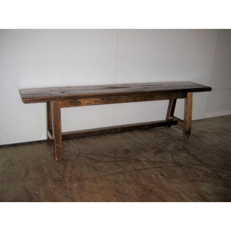 Rustic Reclaimed Barn Wood 6 Foot Dining/Hall Bench