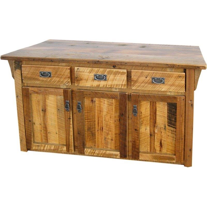 Rustic Reclaimed Barn Wood Kitchen Cabinet / Island