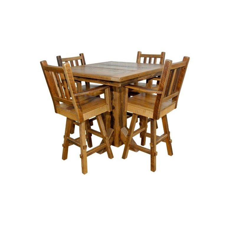 Shown with Barn Wood Pub Table (Table SOLD SEPERATELY)