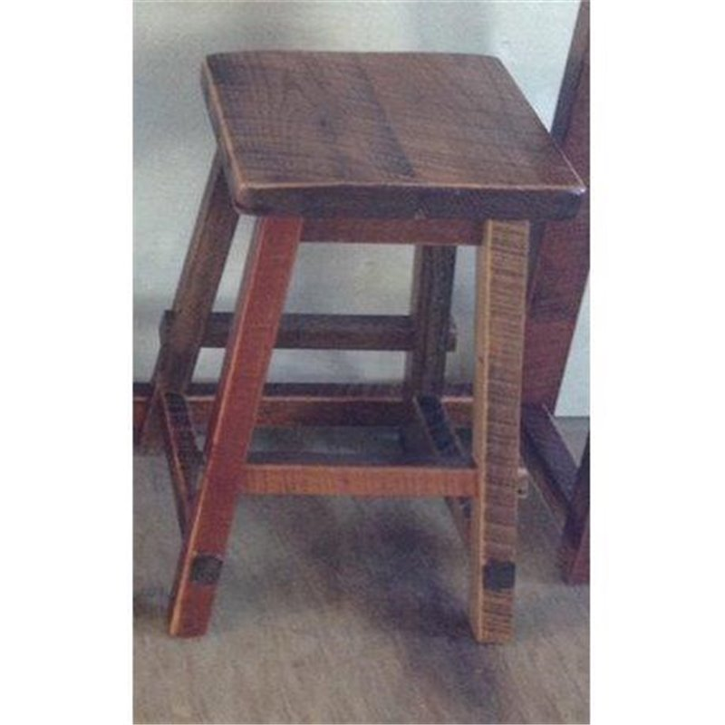 Enjoyable Reclaimed Barn Wood Square Top Bar Stool Squirreltailoven Fun Painted Chair Ideas Images Squirreltailovenorg